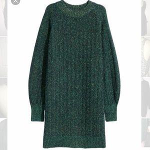 H&M Green Glittery Sweater